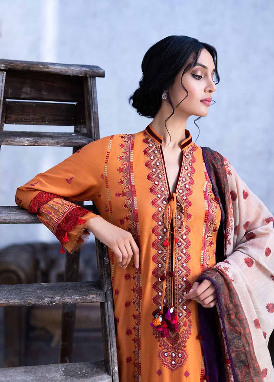 Sobia Nazir Embroidered Khaddar Suit Unstitched 3 Piece 05B – Autumn/Winter Collection