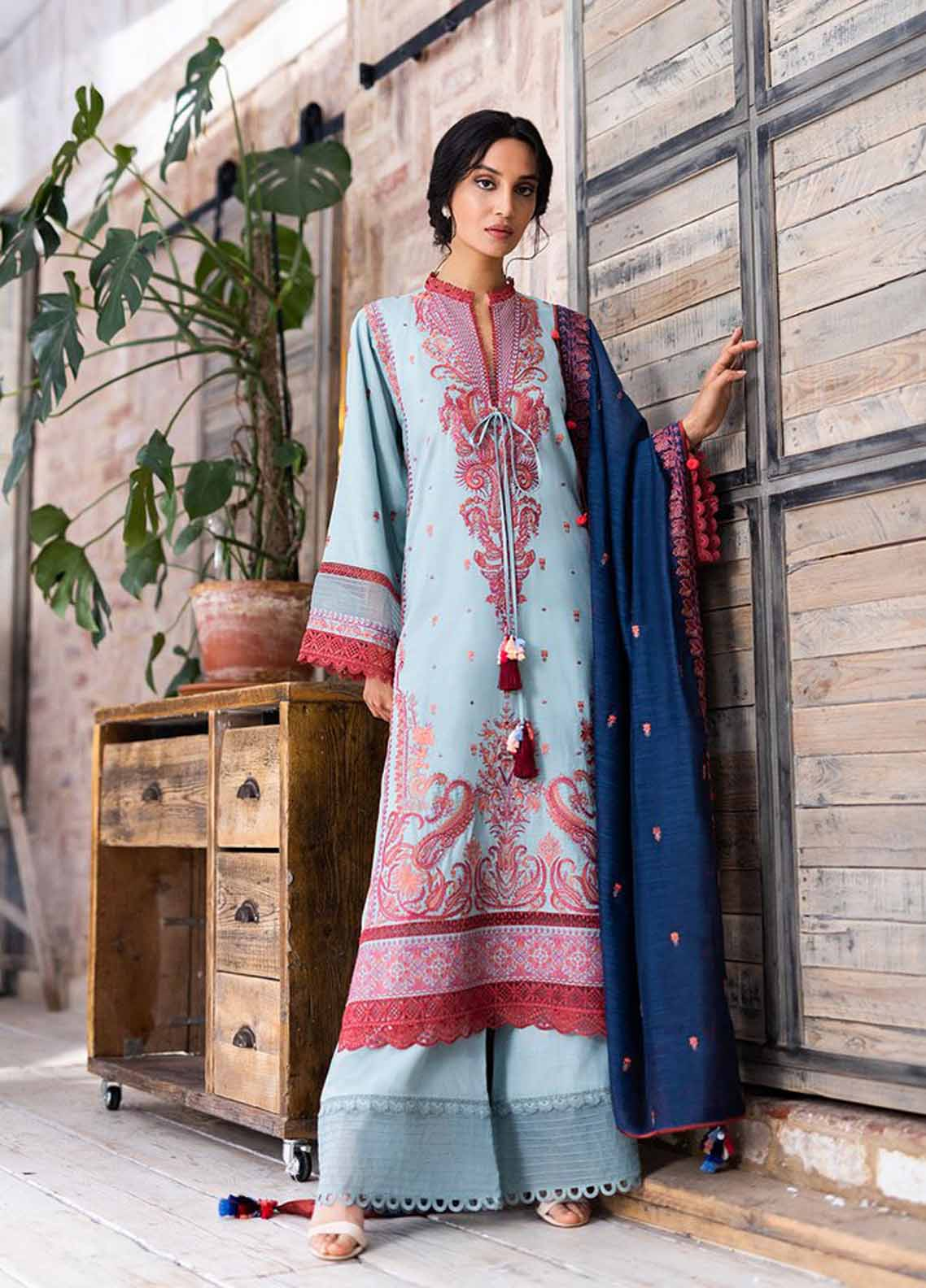 Sobia Nazir Embroidered Khaddar Suit Unstitched 3 Piece 06B – Autumn/Winter Collection