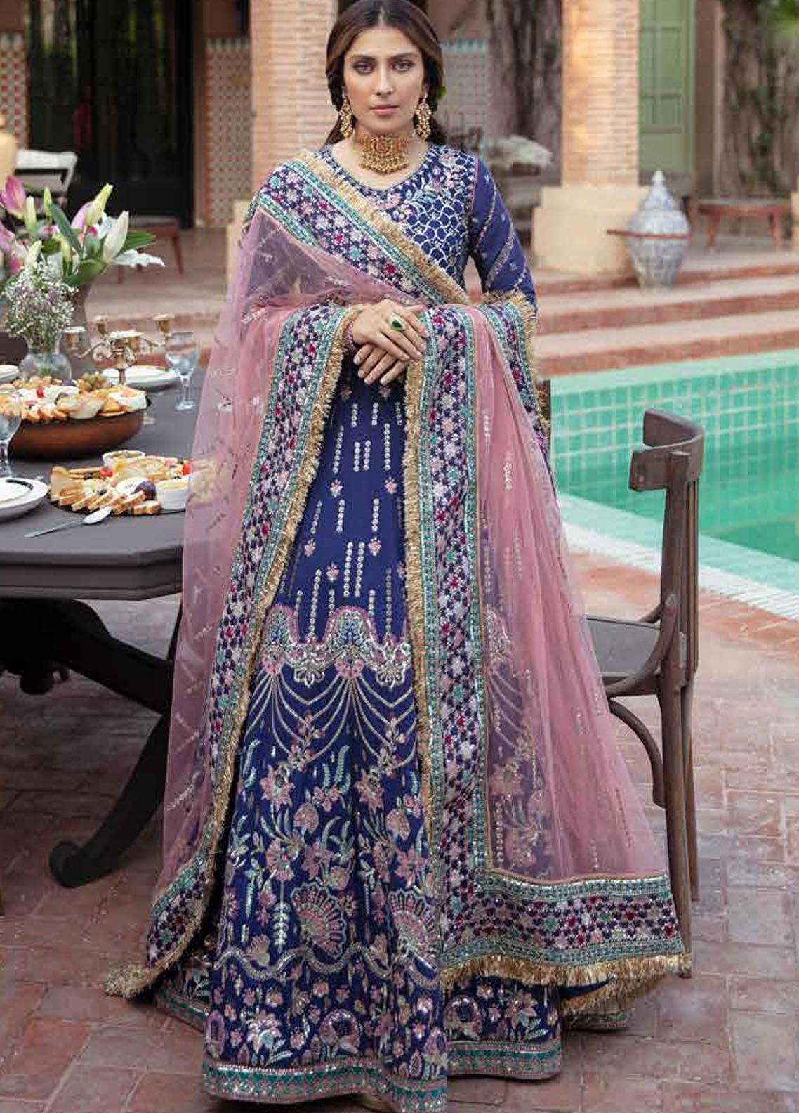 Afrozeh Embroidered Raw Silk Suit Unstitched 3 Piece 03 ANOUSH – Wedding Collection