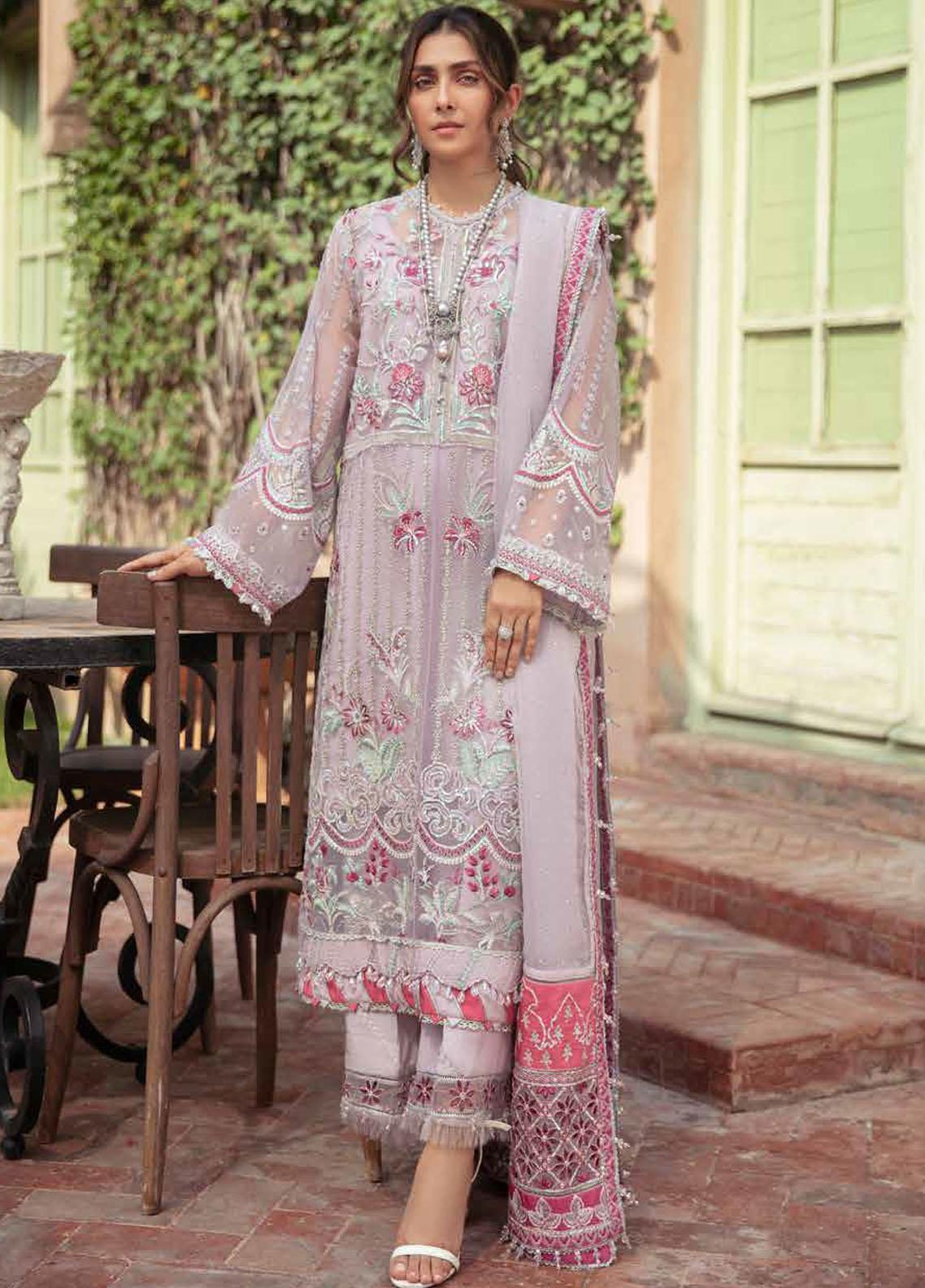 Afrozeh Embroidered Organza Suit Unstitched 3 Piece 10 ASHNA – Wedding Collection