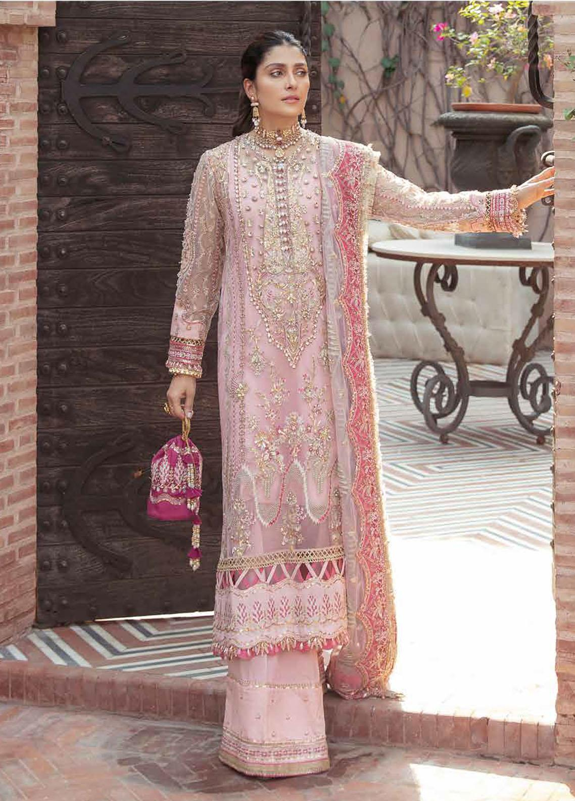 Afrozeh Embroidered Net Suit Unstitched 3 Piece 05 INAYAT – Wedding Collection