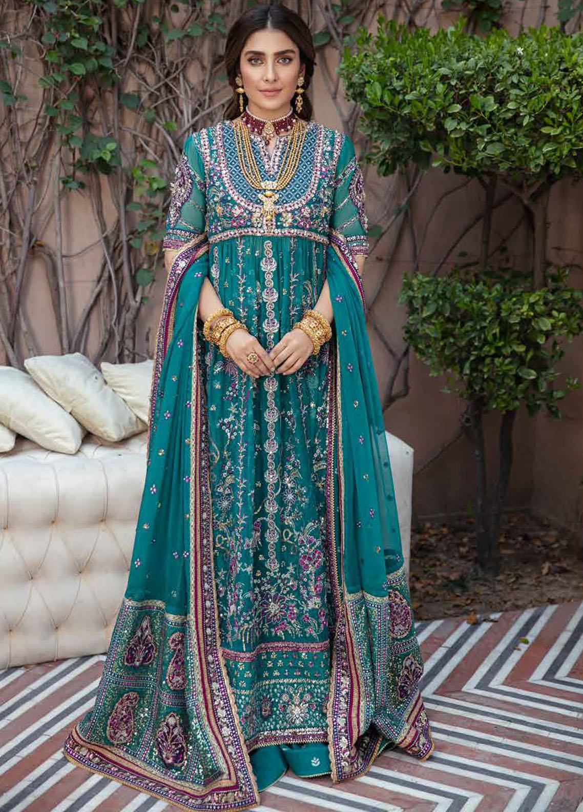 Afrozeh Embroidered Chiffon Suit Unstitched 3 Piece 07 KHIRAD- Wedding Collection