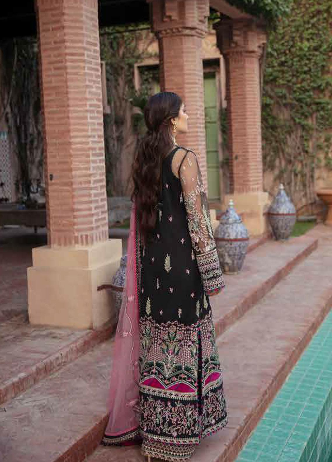 Afrozeh Embroidered Net Suit Unstitched 3 Piece 08 KIARA – Wedding Collection