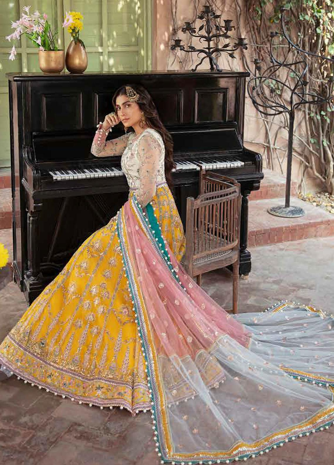 Afrozeh Embroidered Net Suit Unstitched 3 Piece 02 PAREESHA – Wedding Collection