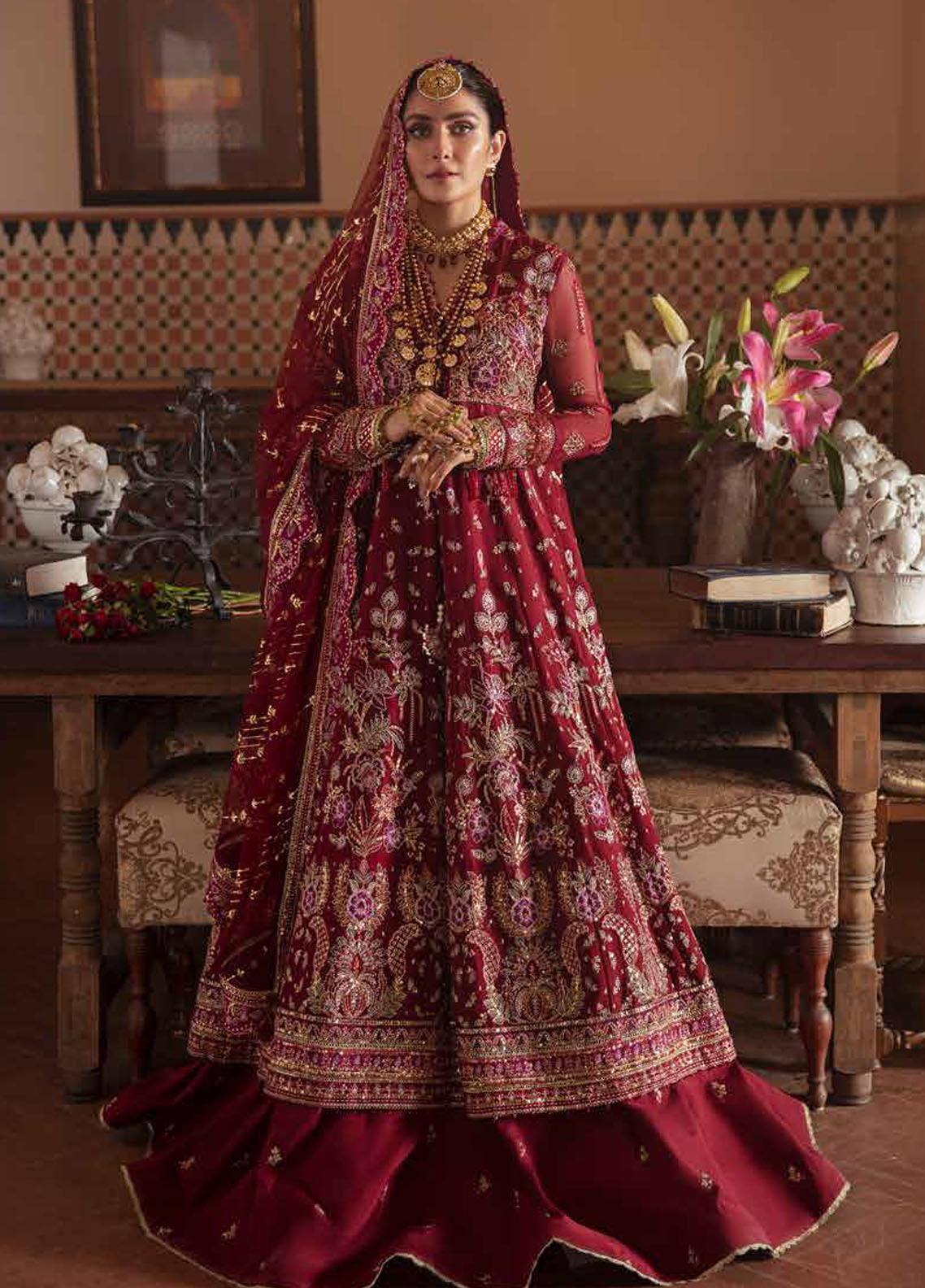 Afrozeh Embroidered Chiffon Suit Unstitched 3 Piece 01 ROSHANAY – Wedding Collection
