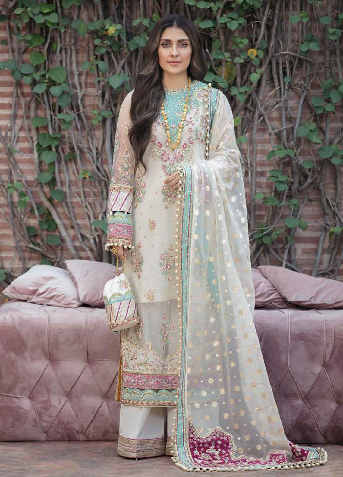 Afrozeh Embroidered Net Suit Unstitched 3 Piece 06 RUHAY – Wedding Collection