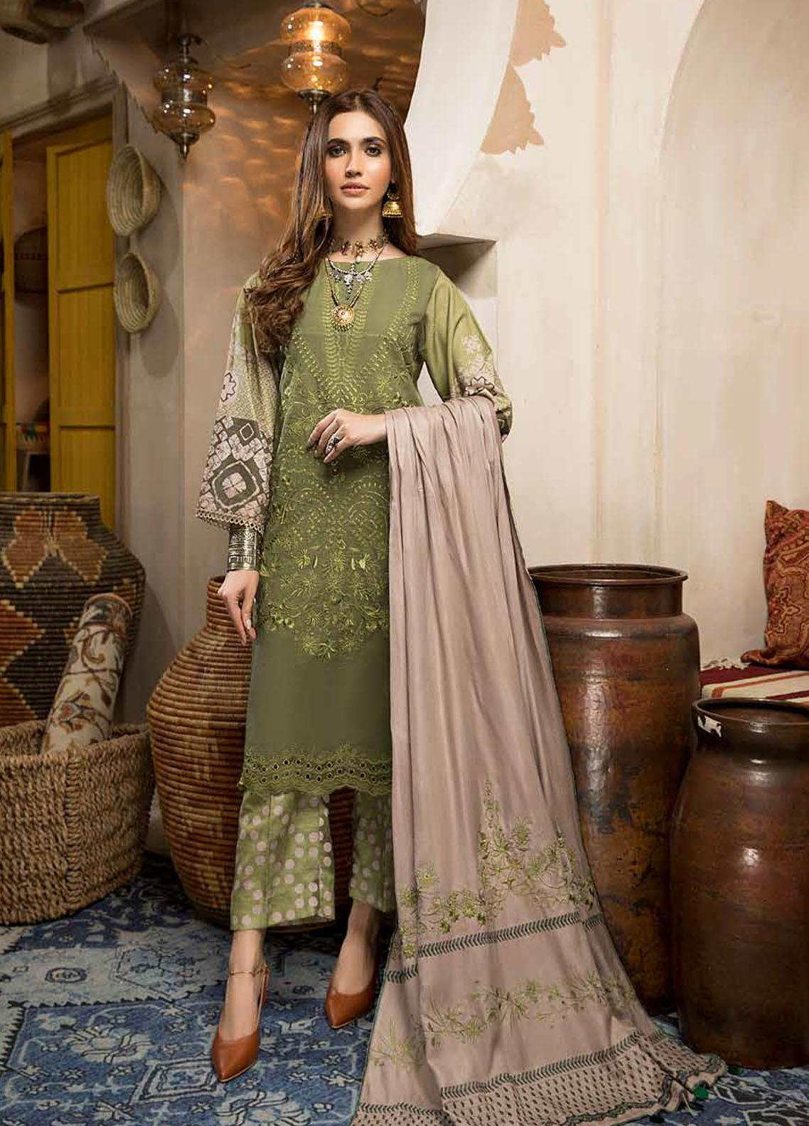 Charizma Embroidered Khaddar Suit Unstitched 3 Piece 03 – Winter Collection