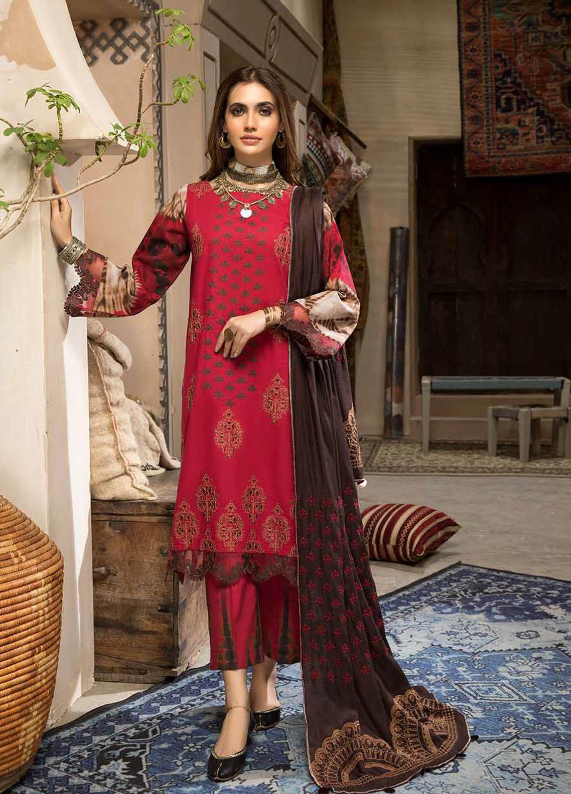 Charizma Embroidered Khaddar Suit Unstitched 3 Piece 04 – Winter Collection