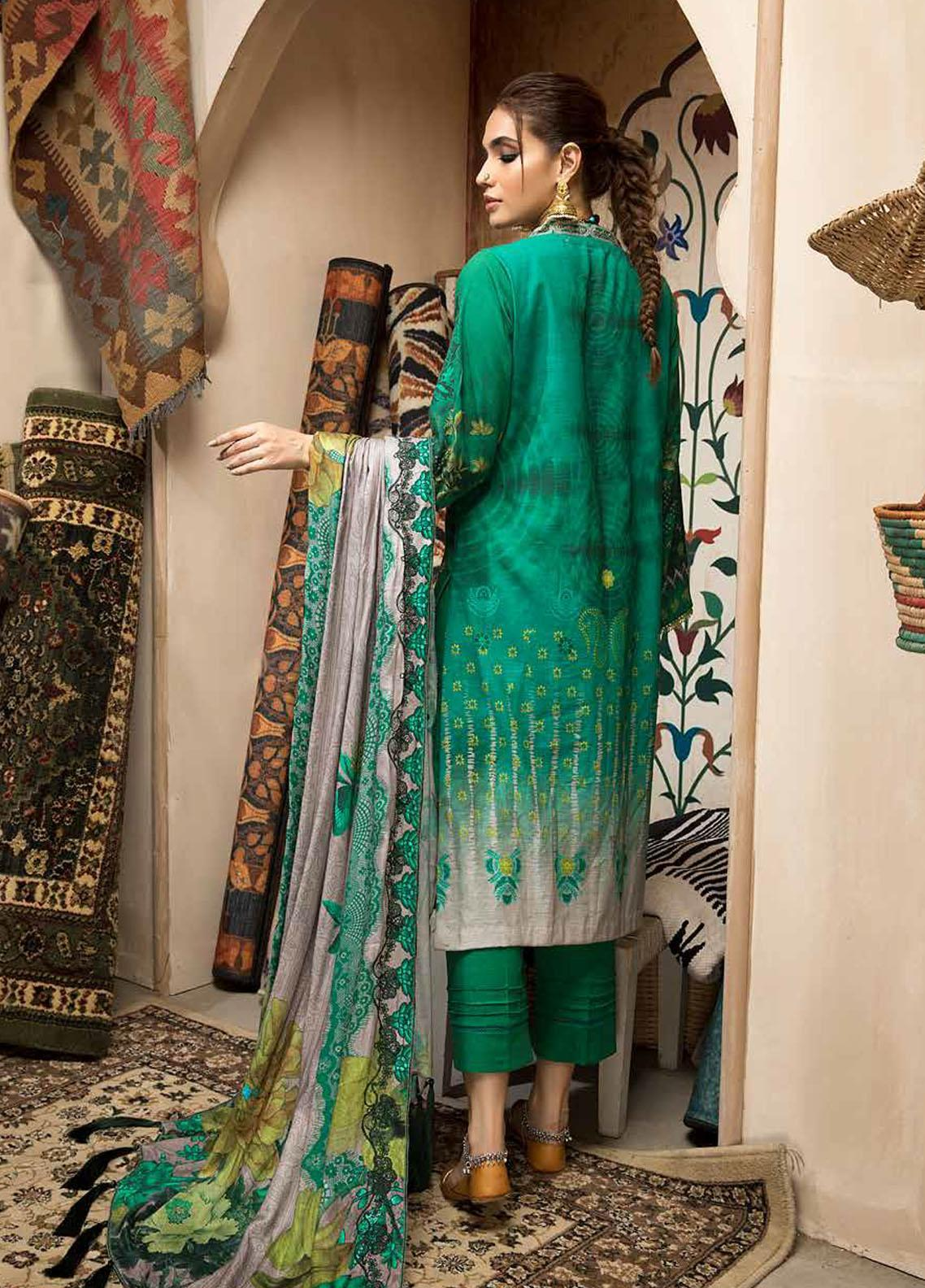 Charizma Embroidered Khaddar Suit Unstitched 3 Piece 06 – Winter Collection