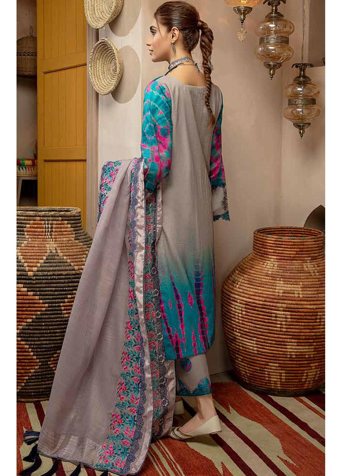 Charizma Embroidered Khaddar Suit Unstitched 3 Piece 10 – Winter Collection
