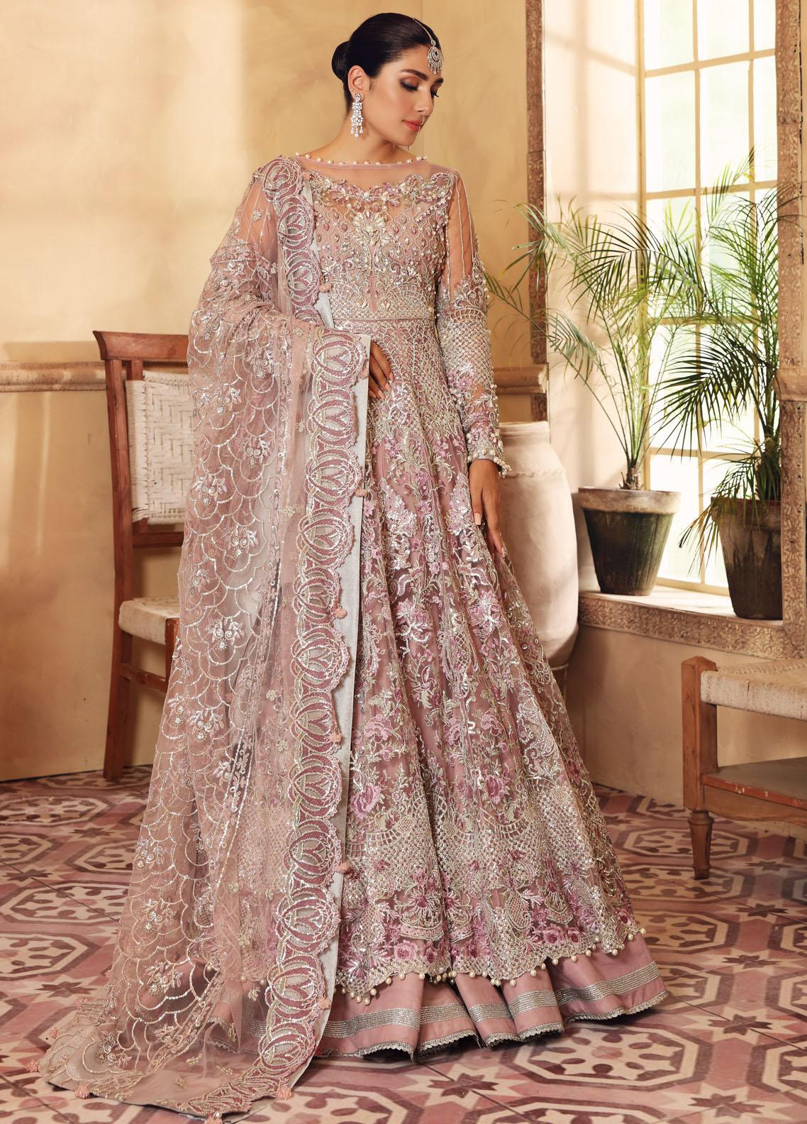 Elaf Embroidered Net Suit Unstitched 3 Piece Bella 02 – Luxury Bridal Collection