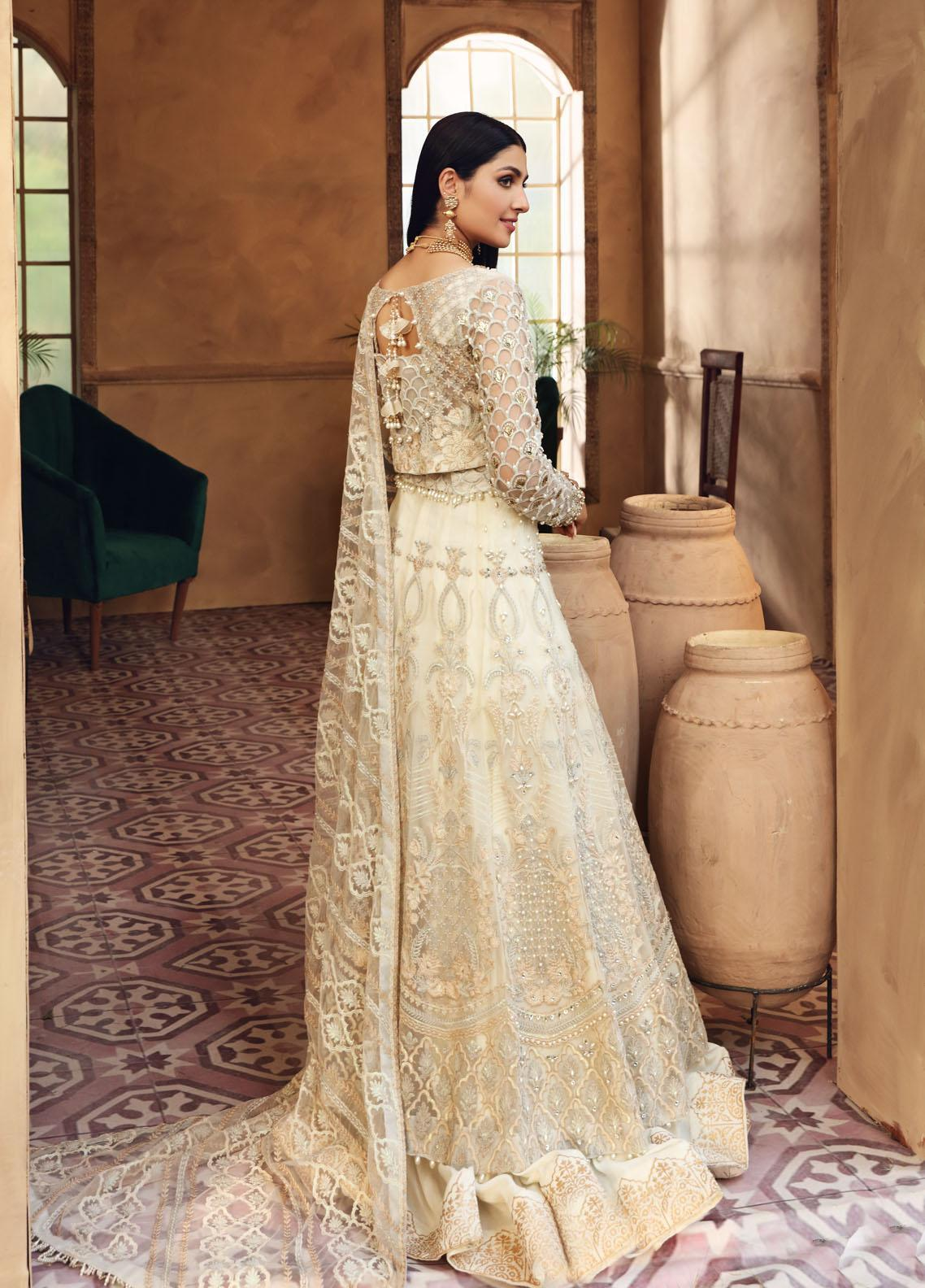 Elaf Embroidered Net Suit Unstitched 3 Piece Snowdrop 06 – Luxury Bridal Collection