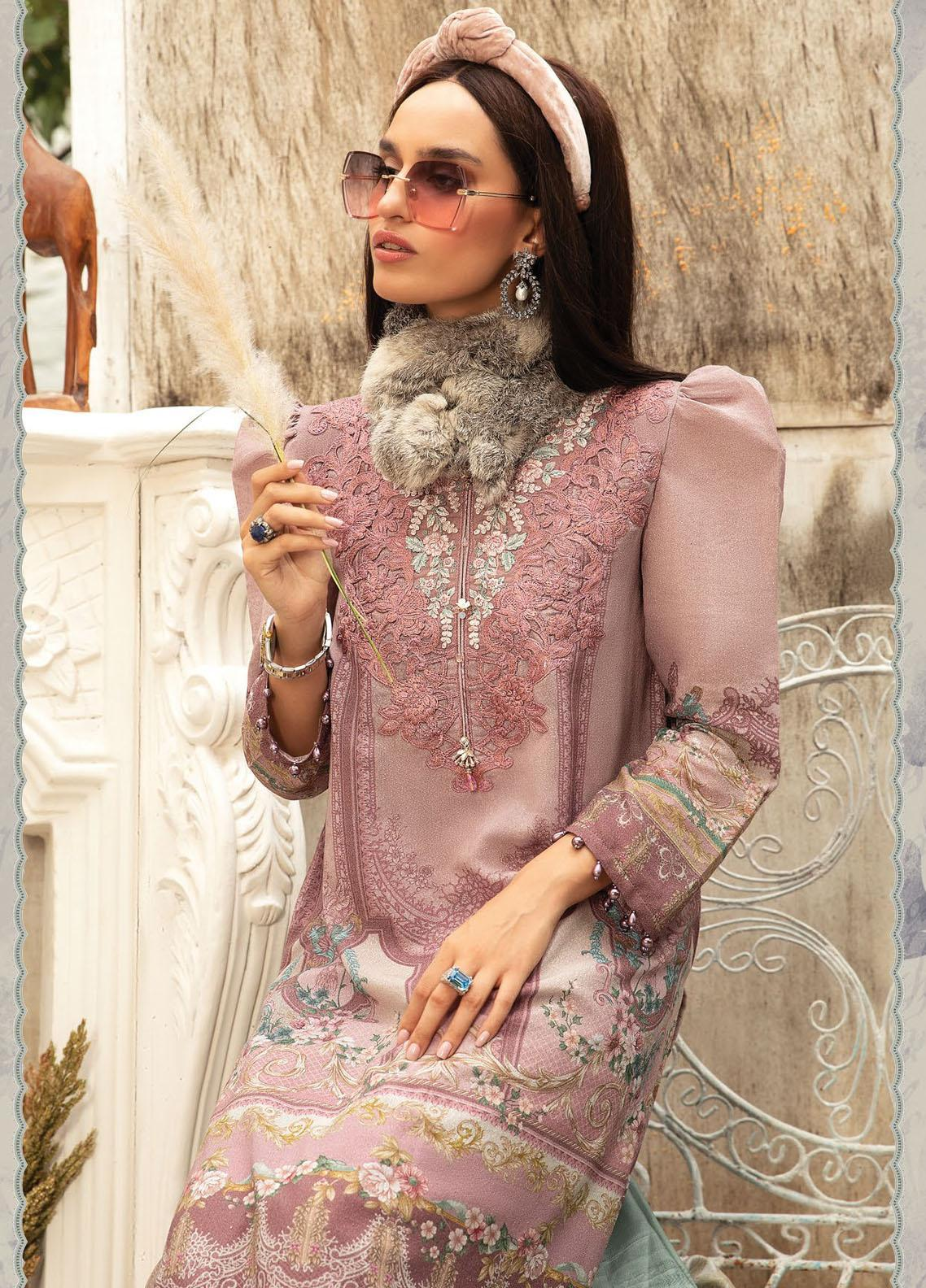 Maria B Mprints Embroidered Karandi Suit Unstitched 3 Piece 11A – Winter Collection