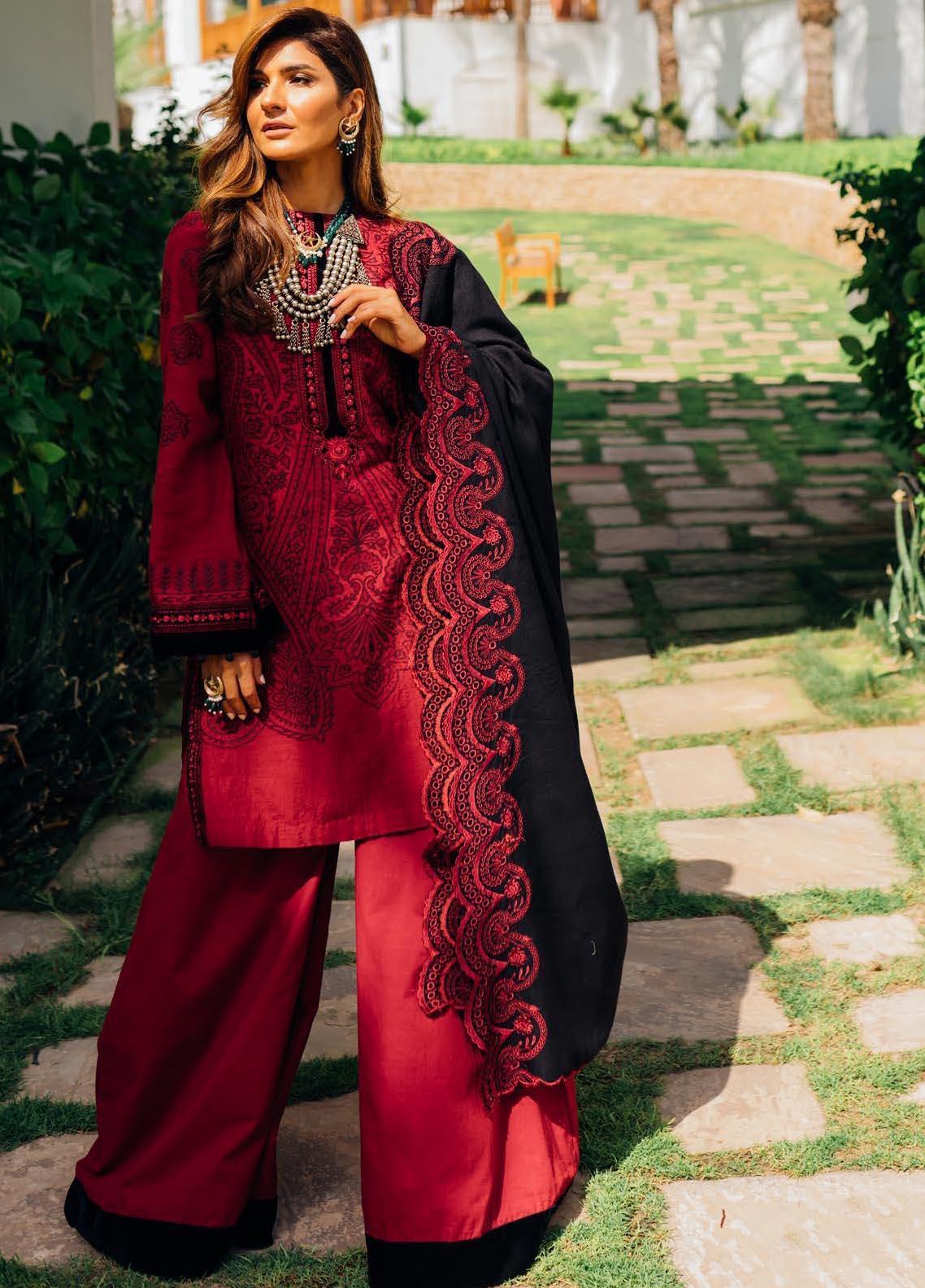 Saira Rizwan Embroidered Khaddar Suit Unstitched 3 Piece 01 AZAR – Winter Collection