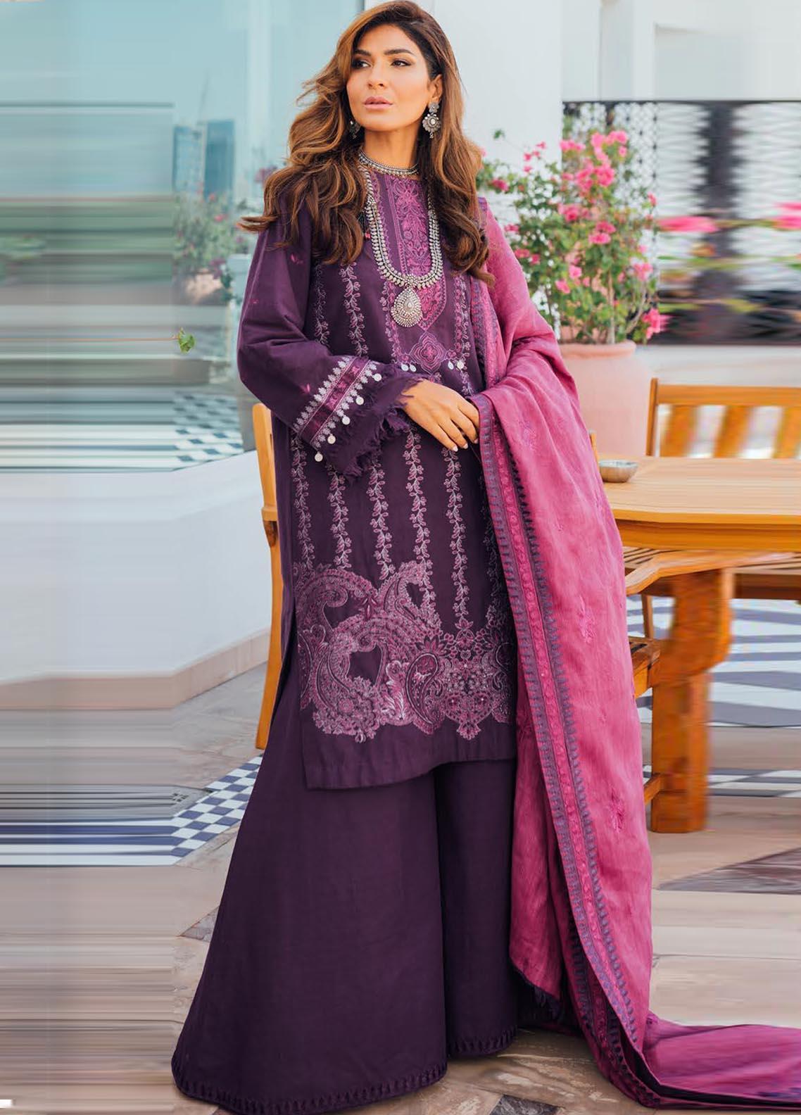 Saira Rizwan Embroidered Khaddar Suit Unstitched 3 Piece 02 BNAFSH – Winter Collection
