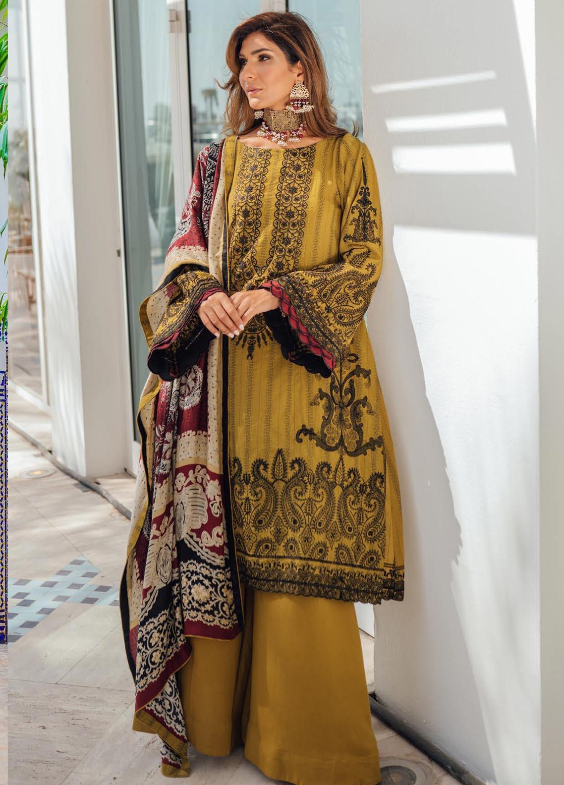 Saira Rizwan Embroidered Cotton Karandi Suit Unstitched 3 Piece 03 ZAREEN – Winter Collection