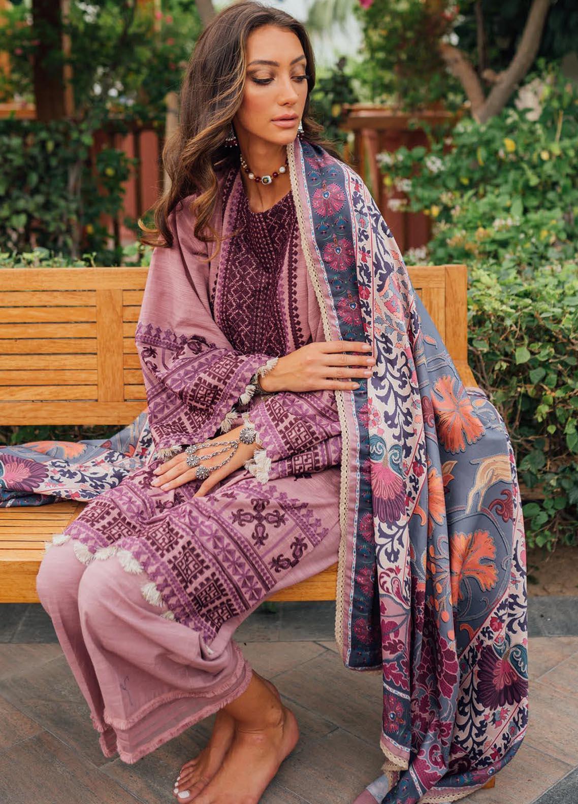 Saira Rizwan Embroidered Khaddar Suit Unstitched 3 Piece 05 MARASH – Winter Collection
