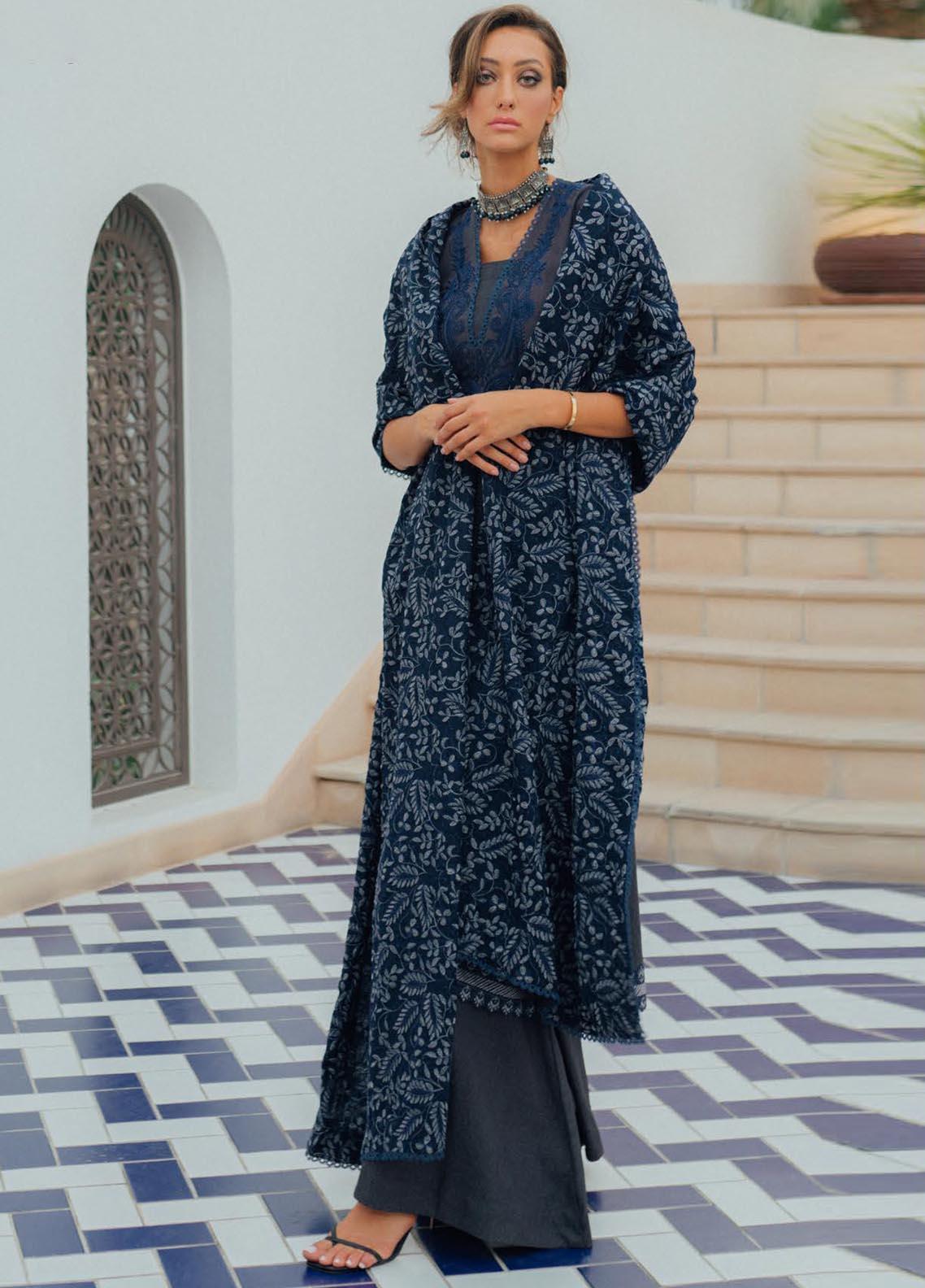 Saira Rizwan Embroidered Cotton Karandi Suit Unstitched 3 Piece 06 ASQUR – Winter Collection