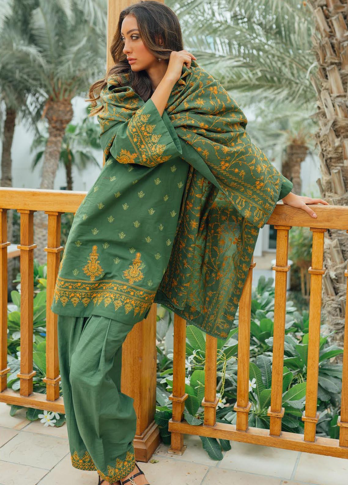 Saira Rizwan Embroidered Khaddar Suit Unstitched 3 Piece 08 ESHAAL – Winter Collection