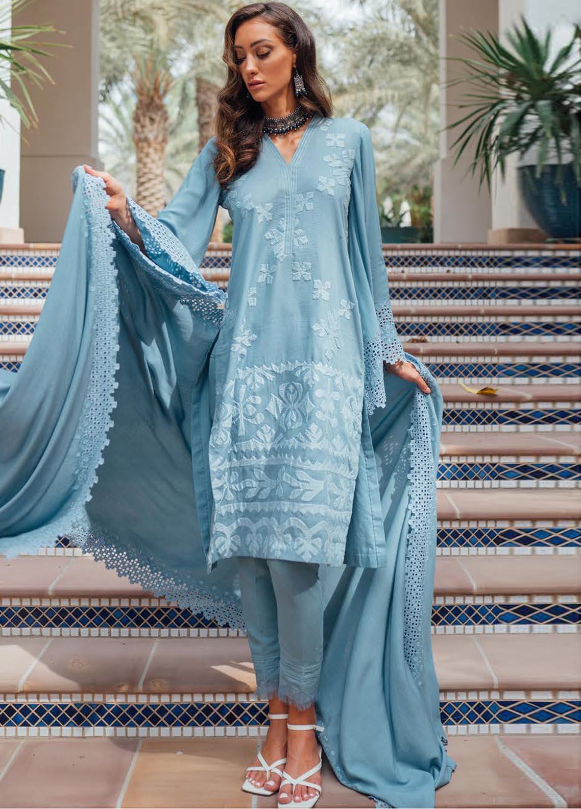Saira Rizwan Embroidered Cotton Karandi Suit Unstitched 3 Piece 09 FIRUZEH – Winter Collection