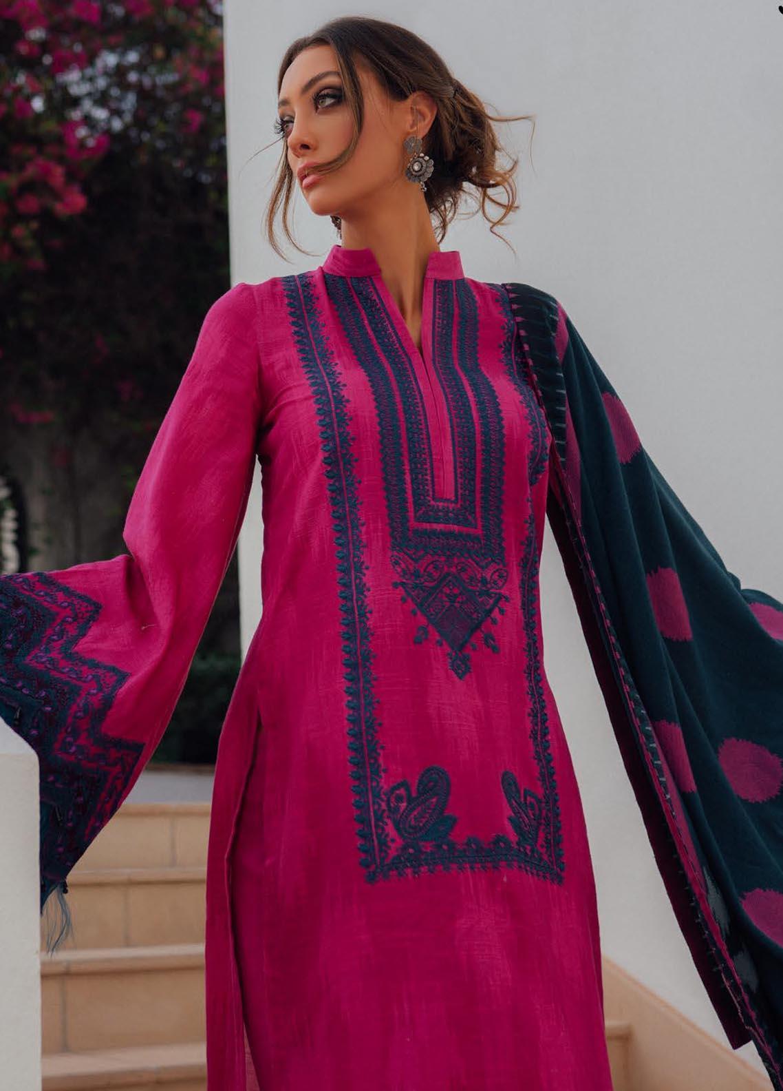 Saira Rizwan Embroidered Khaddar Suit Unstitched 3 Piece 11 PARISA – Winter Collection